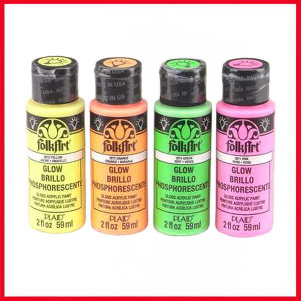 Folk Art Acrylics Glow In The Dark Colors 2oz