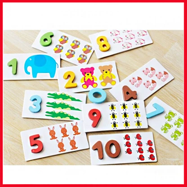 Best Cheap Arithmetic Digital Card / Wooden Puzzle Numbers Learning Card