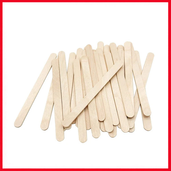Natural Wooden Ice Cream Sticks Popsicle Sticks Small