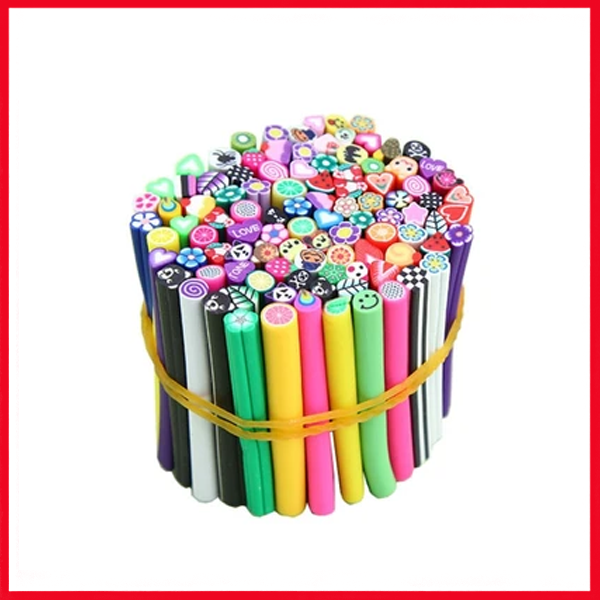 Nail Art Fimo Canes Stick Rods Polymer Clay Stickers