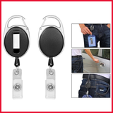 Carabiner Retractable Id Badge Holder