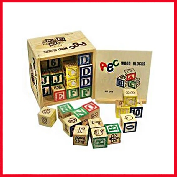 48pcs Kids Blocks - Wooden Blocks For Babies