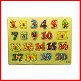 123 Wood Learning Plates - Kids Learning Toys - Printnpack.pk