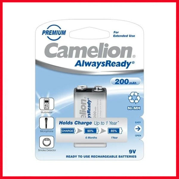 Camelion AlwaysReady Rechargeable 200 MAH 9 Volt