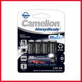 Camelion AlwaysReady 2000 MAH AA4 Rechargeable Battery (1Pc)