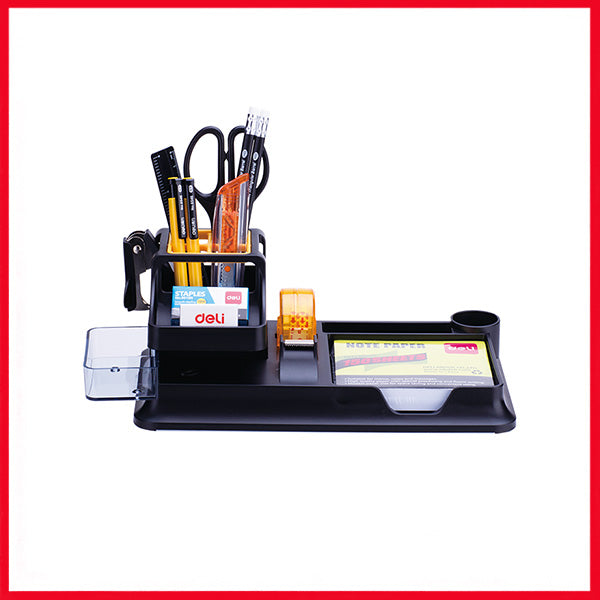 Deli E38252A Superior Material Desk Organizer With 7 Compartment