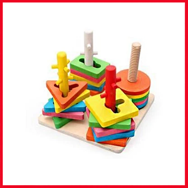 Buy 4-Set Of Column Shape - Kids Learning Toys