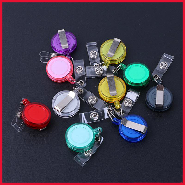Retractable Ski Pass ID Card Badge Holder Key Chain Reels
