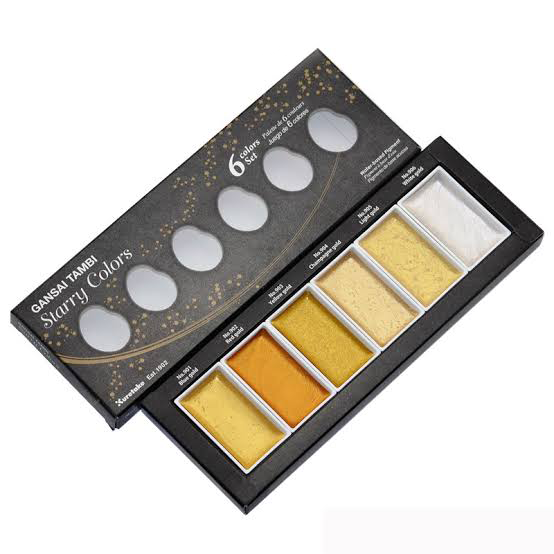 Kuretake Gansai Tambi Starry Watercolor 6 Color Set