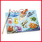 Jigsaw wooden magnetic fish plate