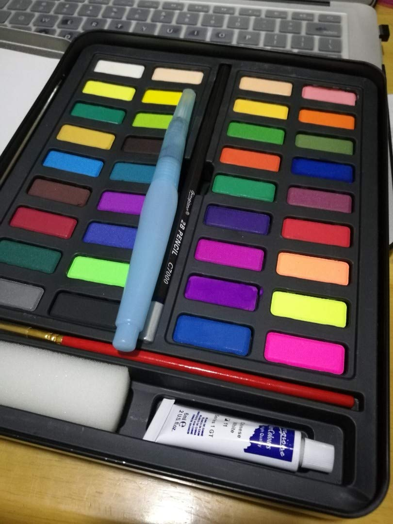 Giorgione Solid Watercolor 36 Paints Tin Set