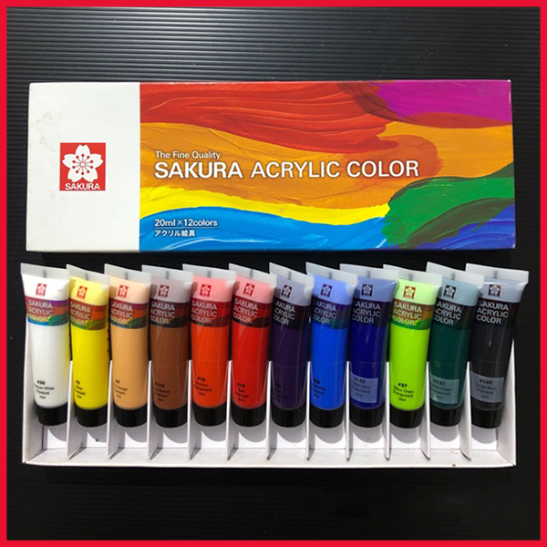 Sakura Acrylic Colour Set 20ml 12 Colours