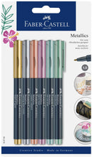 Faber-Castell Metallic Marker 6 Pcs Set