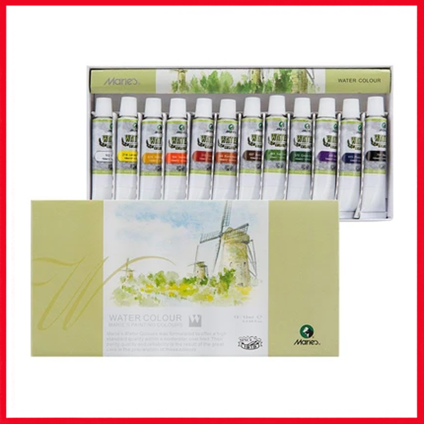 Marie's Watercolor Painting Tube Set (12 Colour X 12ML Tube)