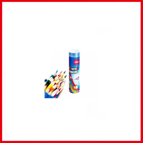 Deli Colored Pencil (Blue) (24/Tube) (E37121)