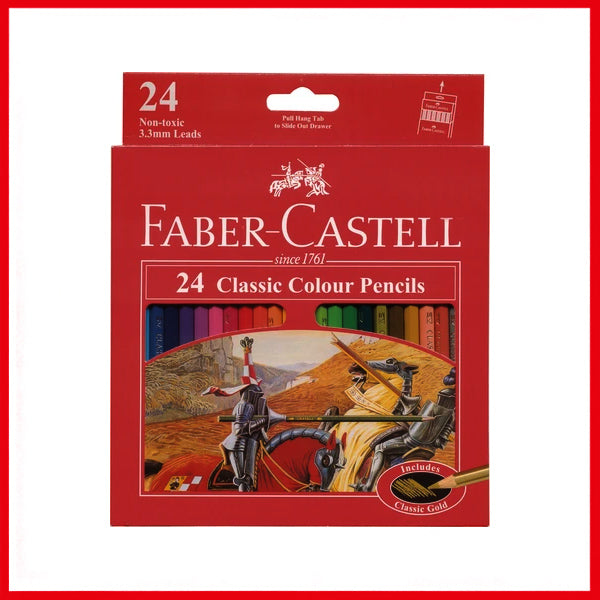 Faber-Castell Classic Color Pencil 24 Pcs Box