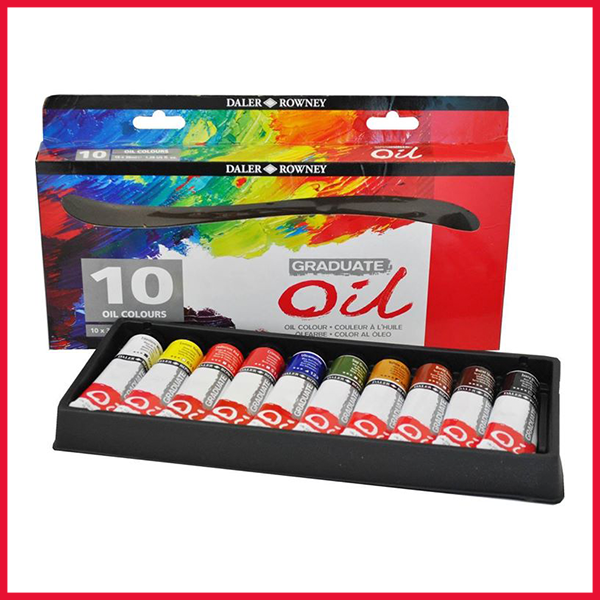 Daler Rowney Graduate Oil Color Tubes Set of 10 pcs in 38ml for Professionals