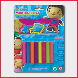 Smile Kid Modelling Clay 8 Color With 3 Moulds 100g