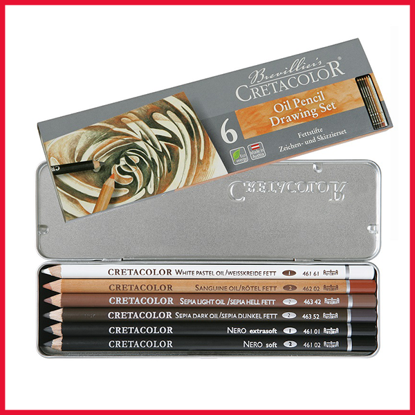Cretacolor Oil Pencils Pocket Set 6 Pcs