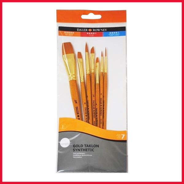 Daler Rowney Gold Taklon Paint Brush Set 7 Pcs