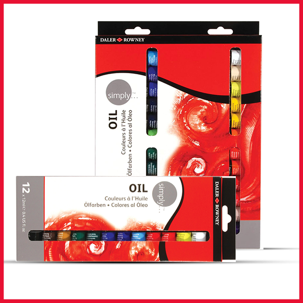 Daler-Rowney Simply Oil Painting 12-24 Colours Set