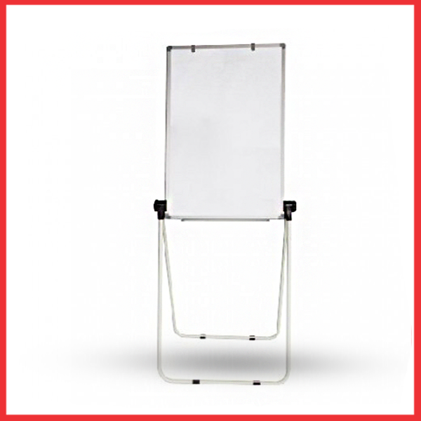 Deli 7886 2-Sided Magnetic Easel Whiteboard - 600x900mm, White.