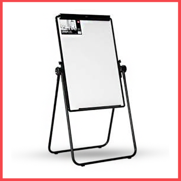 Deli Whiteboard Magnetic With Flip Chart 3×2 With Lags (E7891).