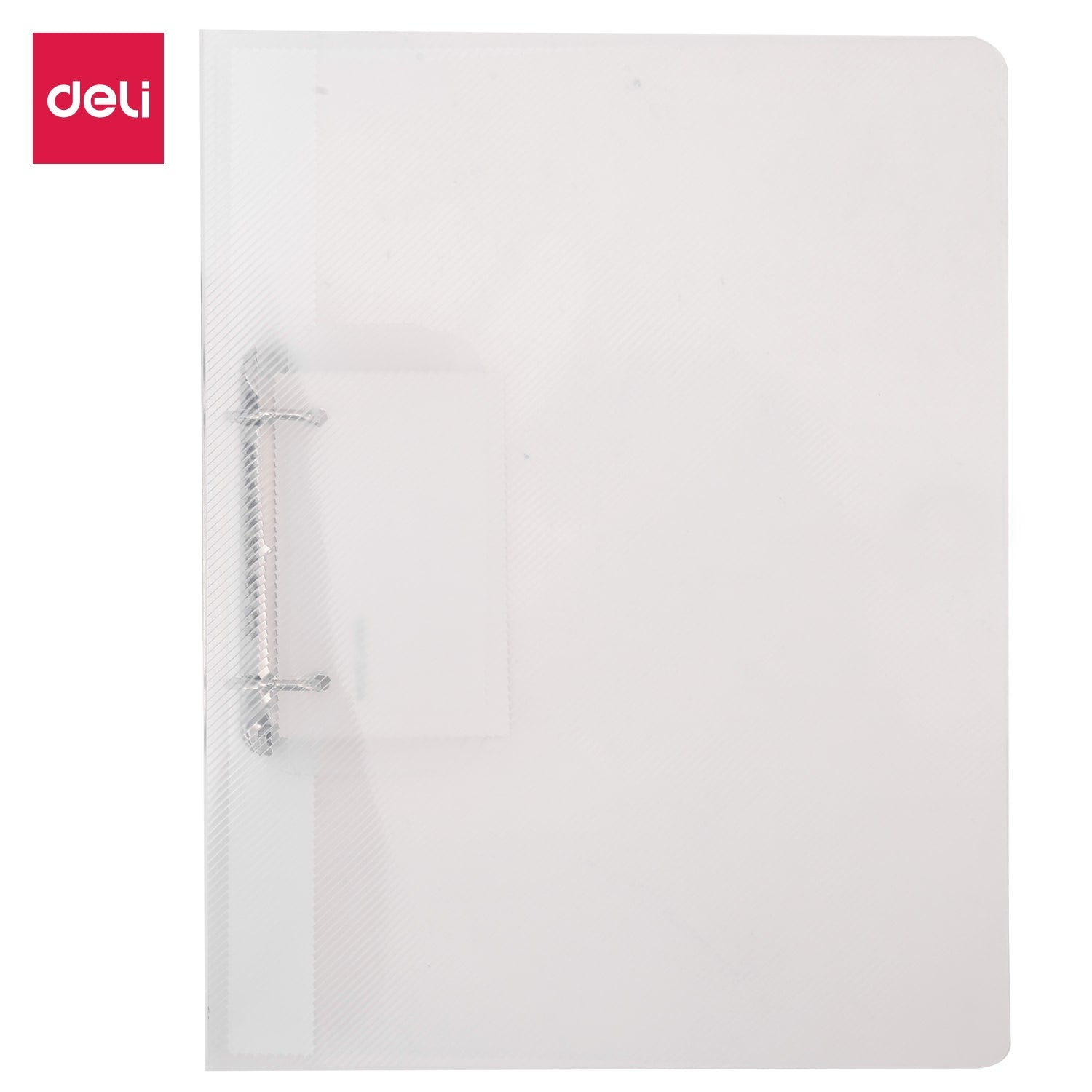 Deli E5381 3/4IN 2 D-Ring Binder A4 Translucent
