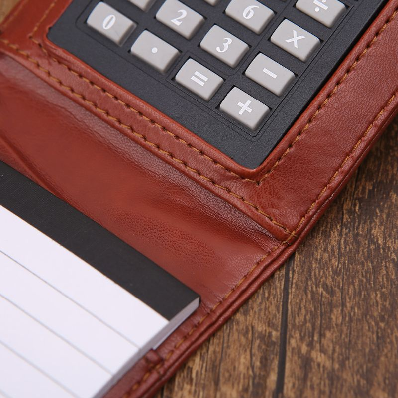 A7 Portable PU Memo Pad with Calculator