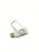 Silver And White(16 GB USB  2.0), Flash Drive, Connect With Pc