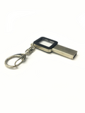 Silver And Black (16,GB USB 2.0), Flash Drive, With Keychain And Connect With PC.