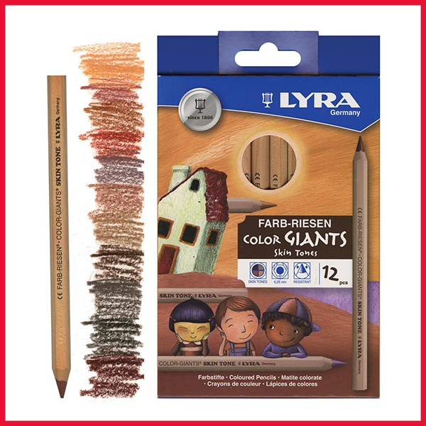 Lyra Color Giants Skin Tone Colored Pencils Set of 12