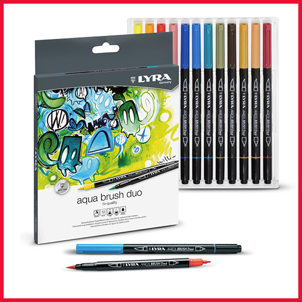 LYRA Aqua Brush Duo Tip Marker Set
