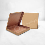 "Large Pizza Box (Brown Non Food Grade) Size 13 x 13 x 1.5"" N"