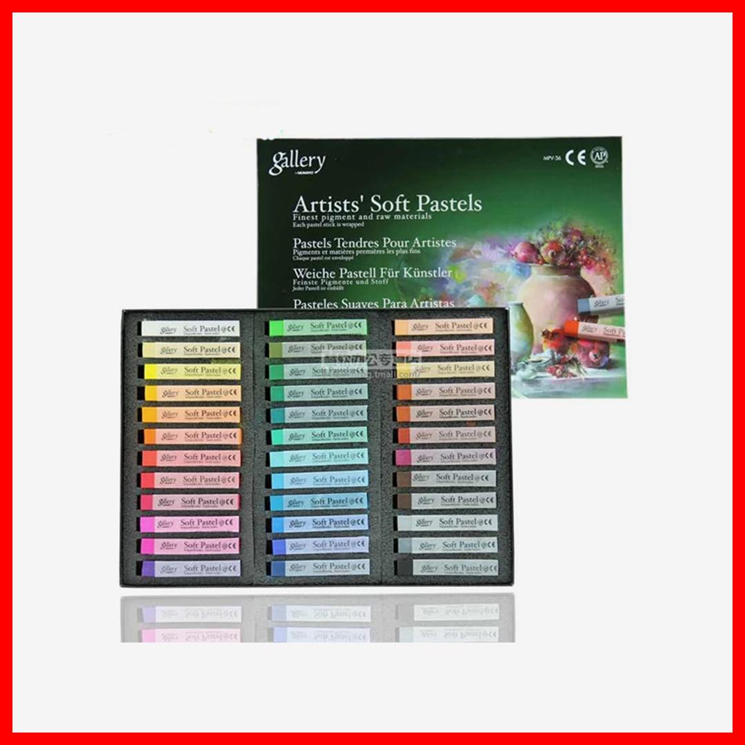 Mungyo Gallery Soft Pastels Earthtone Set Of 36 Pieces
