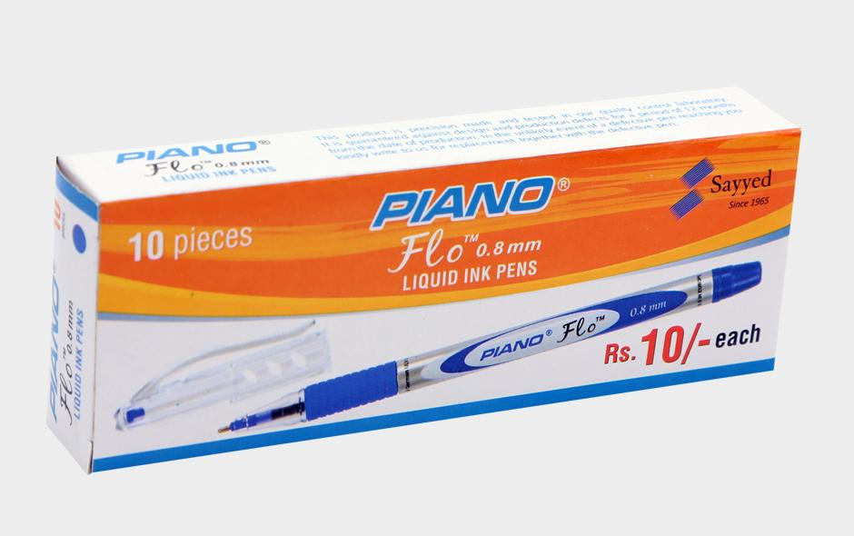 Piano Flo Ballpoint Pen 0.8mm Pack Of 10