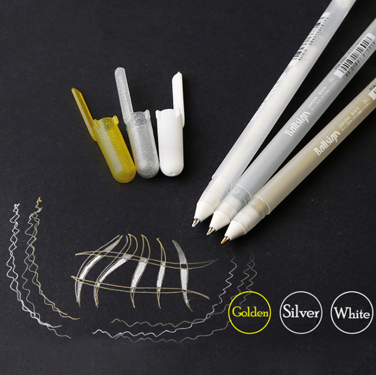 Sakura Gelly Roll Metallic Pen 3 Pcs Set