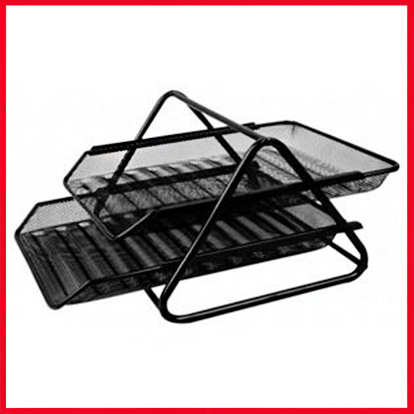Letter Tray 2 Tier Black
