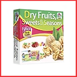 Fruits Flashcards - Dry Fruits Flashcards - Sweets & Seasons Flashcards