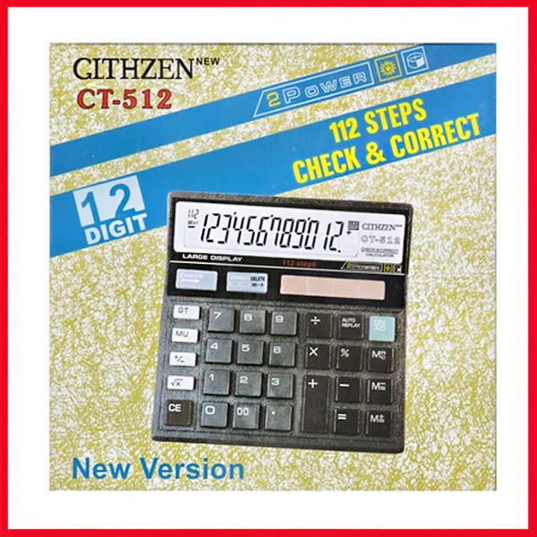 Clitlizne Check & Correct Calculator CT-512.