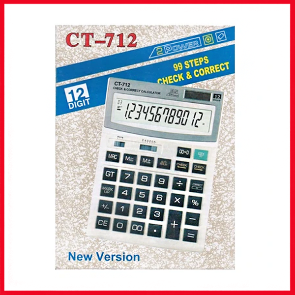 Clitlizne Check & Correct Calculator CT-712.