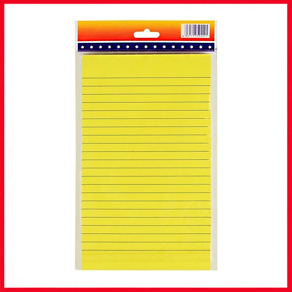 Self-Stick Sticky Note Pad Ruled, 8.5×5 inch.