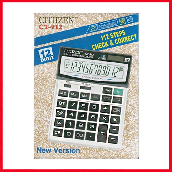 Clitlizne Check & Correct Calculator CT-912 (Large).
