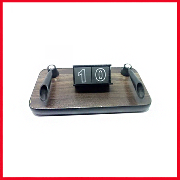 Marine Wood Table Pen Stand With Date.