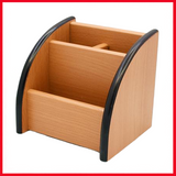 2 Compartments Wooden Pen Stand 8809 - Printnpack.pk