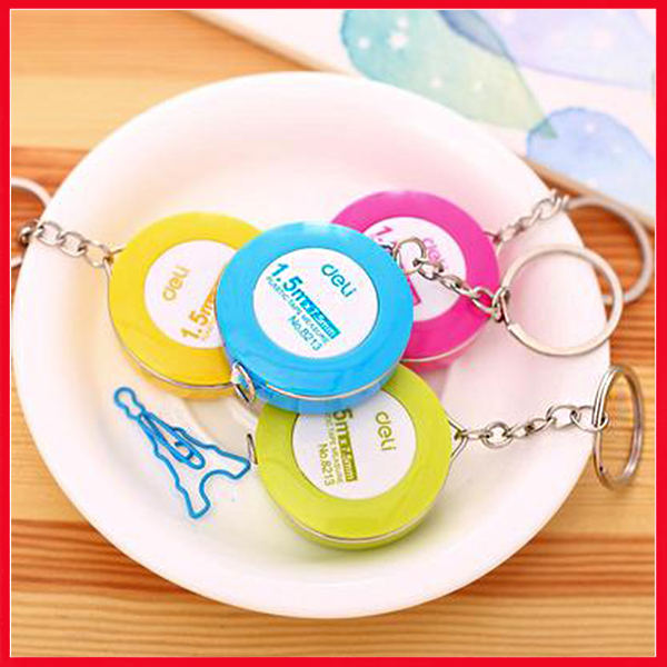Deli Plastic Measuring Tape, (with Key Chain) Vivid Color.