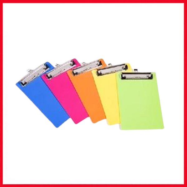 Colorful Clip Board - Single Piece