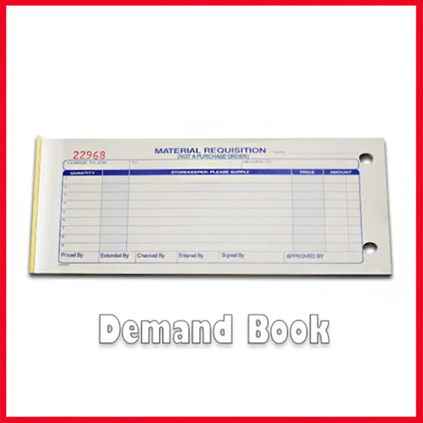 Demand Book - Demand Draft With Carbon Paper Duplicate - 50 Sets.