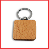 Blank Wooden Rectangle Keychain