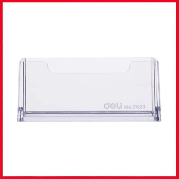 Deli E7623 PS Business Card Holder